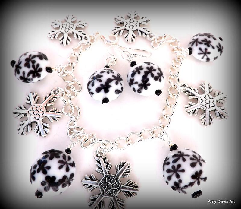 Snowflake Bracelet and Earring Set