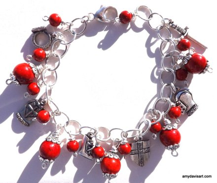 Red Armor of God Charm Bracelet
