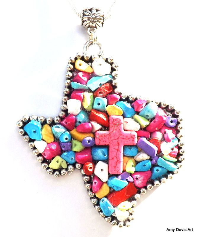 Texas Pendant in Bright Fiesta Colors!