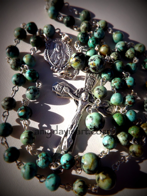 African Turquoise Jasper Five Decade Rosary
