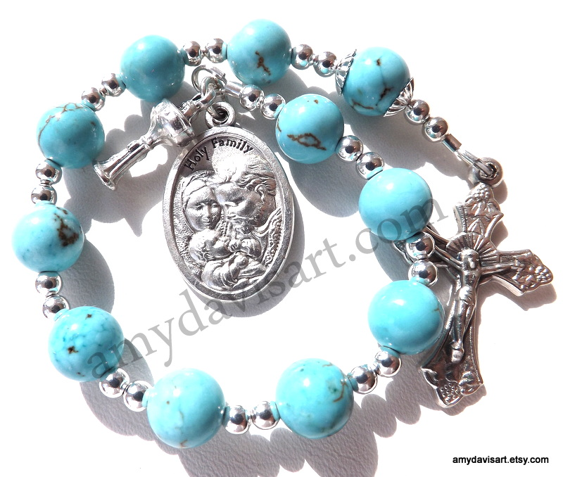 Turquoise One Decade Rosary