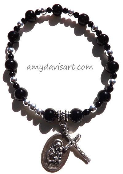 Men's St. Joseph Rosary Bracelet