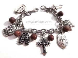 Custom AOG bracelet for Linda D. 5-2014 with Crazy Horse Stone DSCF8041-001