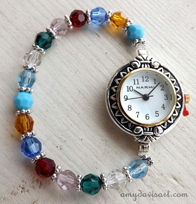 Custom Birthstone Mom/Grandma Watch