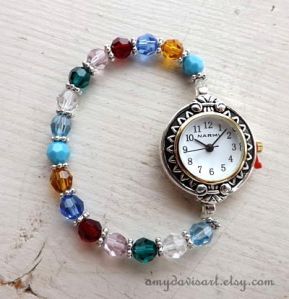 Custom Crystal Birthstone Watch
