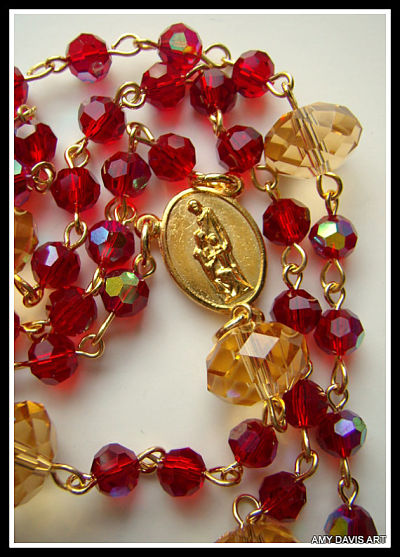 Red Mission Rosary