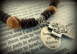 Acai Nut Wood Rosary Bracelet for Men