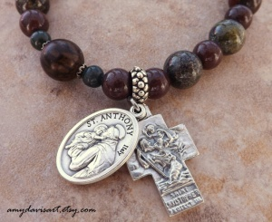 Handsome, unique one-decade rosary bracelet for men