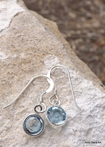 Beautiful, dainty March birthstone earrings!