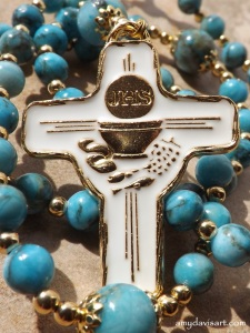 A beautiful rosary for a blessed occasion!