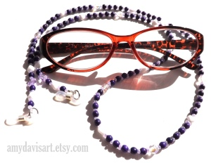 Purple Lanyard for Eyeglasses