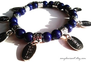 Galatians 5 Purple Charm Bracelet