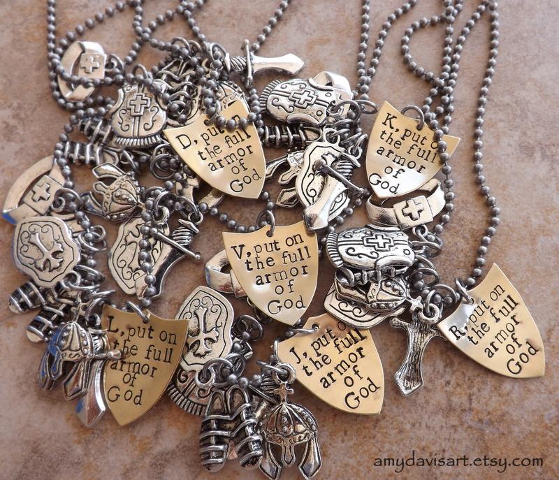 new personalized armor of god charm necklace amydavisart