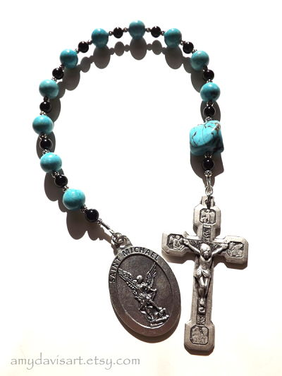 Turquoise St. Michael Rosary DSCF2681_opt