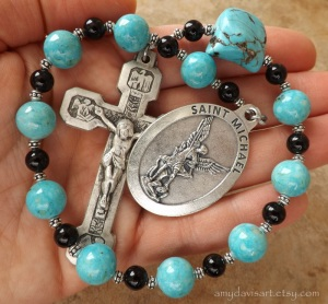 Large Sized Turquoise One Decade Rosary Chaplet