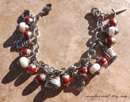 Armor of God Christian Charm Bracelet