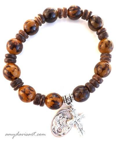 Rosary Bracelet for Catholic Man