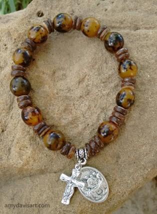 Catholic Men's Rosary Bracelet