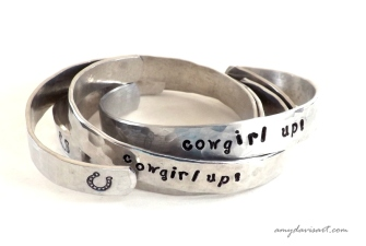 cowgirl up! (hand-stamped cuff style bracelet)