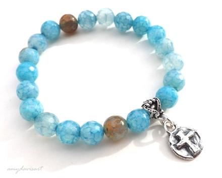 Cross bracelet for her