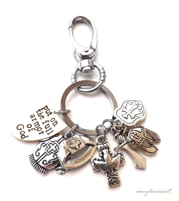 Ephesians 6 Full Armor of God Key Chain