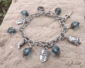 Teal Czech glass beads are stunning!