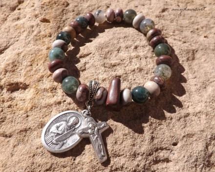St. Cecilia Catholic rosary bracelet