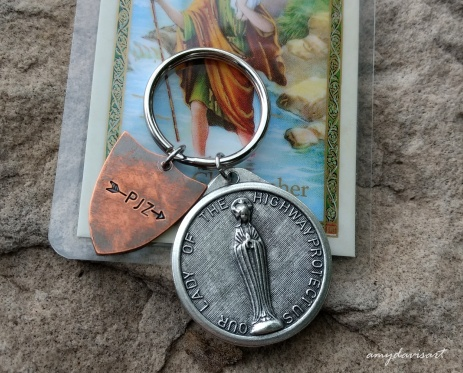 Personalized St. Christopher / Armor of God Keychain