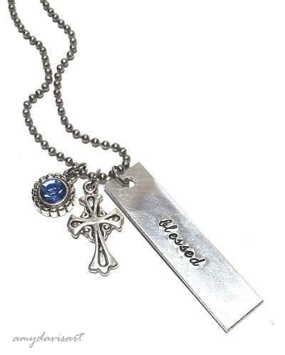 hand stamped necklace Christian jewelry
